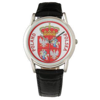 Reloj polaco del escudo de armas