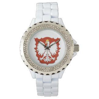Reloj polaco del escudo de Eagle