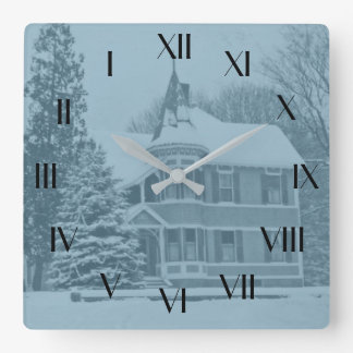 Reloj posterior de la casa vieja del Victorian