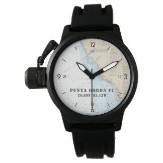 Reloj Punta Gorda de la latitud del navegante náutico de