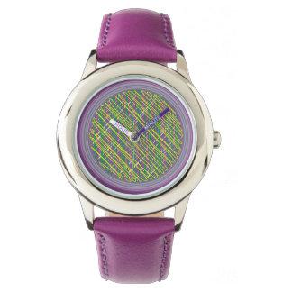 Reloj púrpura del garabato