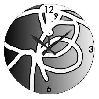 Reloj Redondo Grande Reloj quebrado del círculo del orbe II
