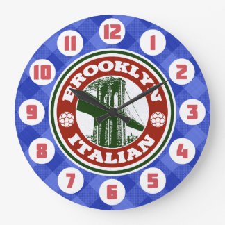 Reloj redondo americano italiano de Brooklyn