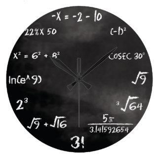 Reloj redondo del concurso de la matemáticas