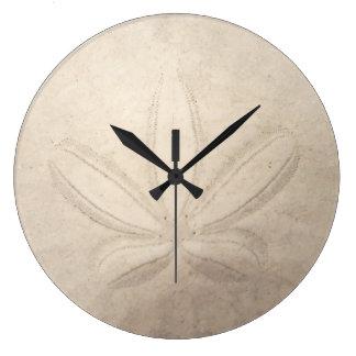 Reloj redondo del dólar de arena