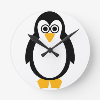 Reloj redondo del fiesta del pingüino