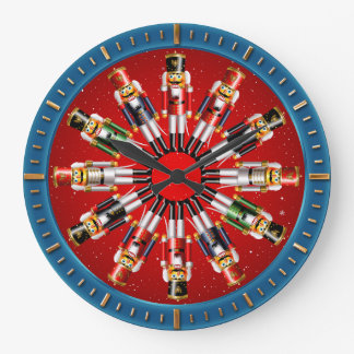 Reloj Redondo Grande 12 soldados de juguete del cascanueces de Navidad
