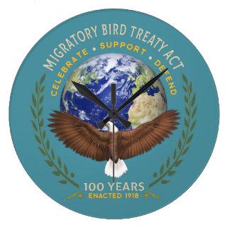 Reloj Redondo Grande 1918 acto del tratado de la ave migratoria - 100