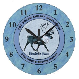 Reloj Redondo Grande 1ras escuadrillas polares del puente aéreo de