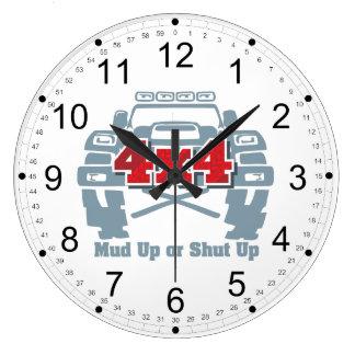 Reloj Redondo Grande 4x4 ascendente o cerrado del fango del camino