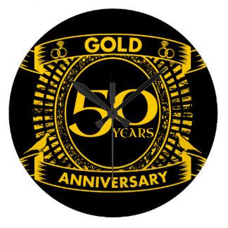Reloj Redondo Grande 50.o Aniversario de boda del oro