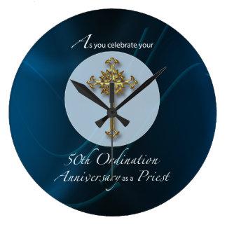 Reloj Redondo Grande 50.o Aniversario de la ordenación del jubileo del