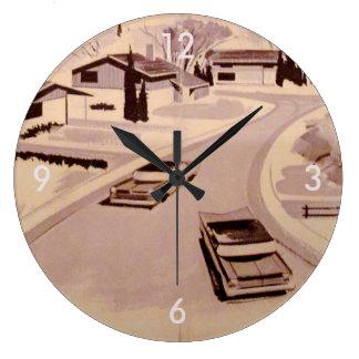 Reloj Redondo Grande 60s Retro-licious moderno