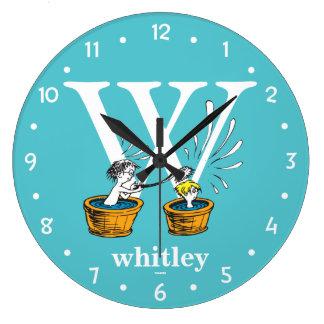 Reloj Redondo Grande ABC del Dr. Seuss: Letra W - El blanco el | añade
