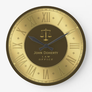 Reloj Redondo Grande ABOGADO EN el regalo con clase de oro elegante de