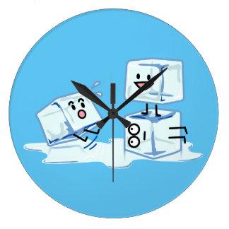 Reloj Redondo Grande agua helada del cubo de los cubos de hielo que