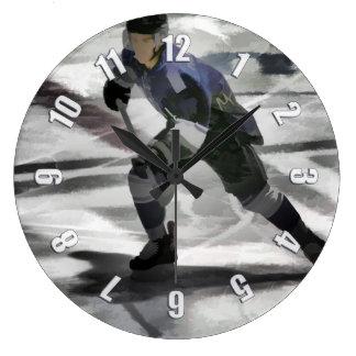 Reloj Redondo Grande Aliste para el jugador del hockey sobre hielo del