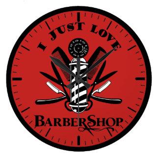 Reloj Redondo Grande Amo la barbería