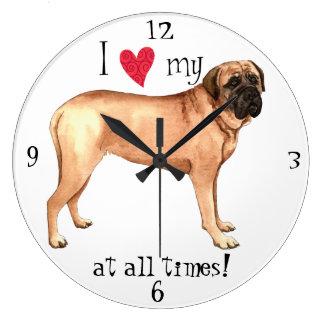 Reloj Redondo Grande Amo mi mastín