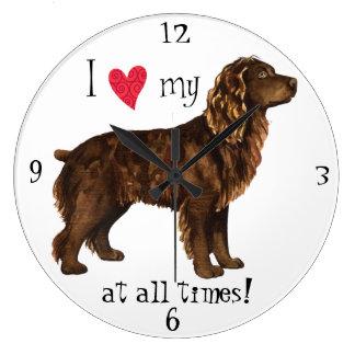 Reloj Redondo Grande Amo mi perro de aguas de Boykin