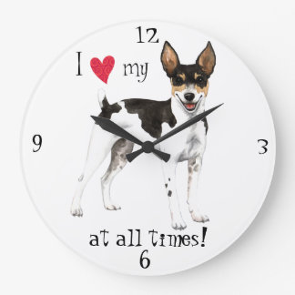 Reloj Redondo Grande Amo mi rata Terrier