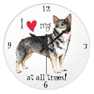 Reloj Redondo Grande Amo mi Vallhund sueco
