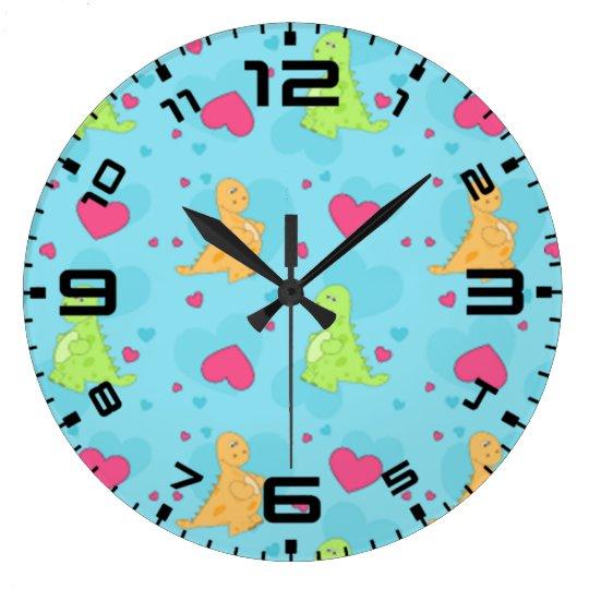 Reloj Redondo Grande Amor del dinosaurio