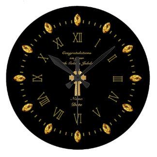 Reloj Redondo Grande Aniversario de la ordenación 50.a del sacerdote