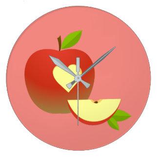 Reloj Redondo Grande Apple ama