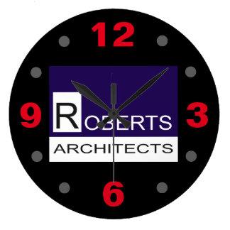Reloj Redondo Grande Arquitectos de Roberts