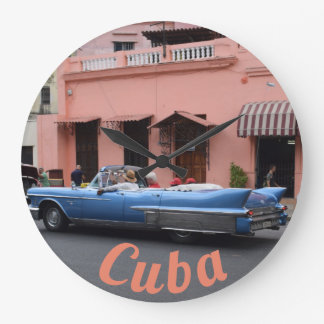 Reloj Redondo Grande Arquitectura del coral del coche del vintage de La