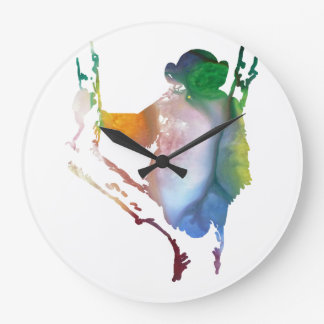 Reloj Redondo Grande arte del chimpancé