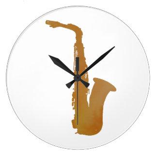 Reloj Redondo Grande Arte del saxofón