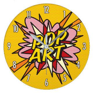 Reloj Redondo Grande Arte pop del cómic