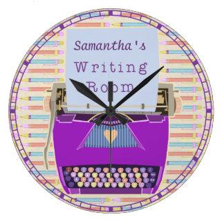 Reloj Redondo Grande Autor personalizado sitio de la escritura de la
