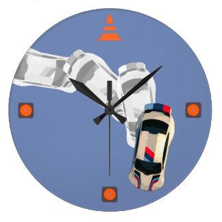 Reloj Redondo Grande AUTOX-Blanco