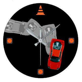 Reloj Redondo Grande AUTOX-Rojo