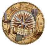 Reloj Redondo Grande Aventura del compás del mapa de la antigüedad del