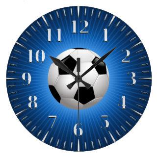 Reloj Redondo Grande Azul fresco del fútbol del fútbol el | del deporte