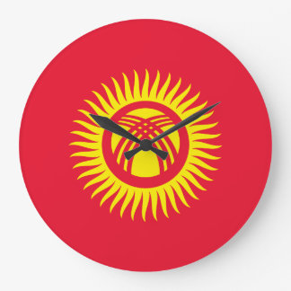Reloj Redondo Grande Bandera de Kirguistán