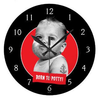 Reloj Redondo Grande Bebé duro de Beared
