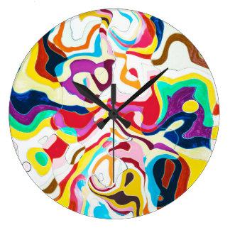 Reloj Redondo Grande Bipolar