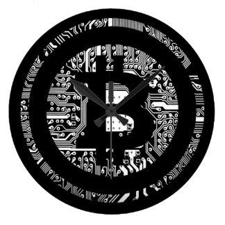 Reloj Redondo Grande Bitcoin - el Internet del dinero