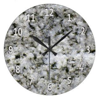 Reloj Redondo Grande Blanco de la roca del granito con los dígitos