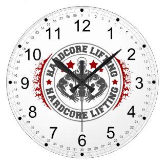 Reloj Redondo Grande Bodybuilder que dobla de elevación incondicional