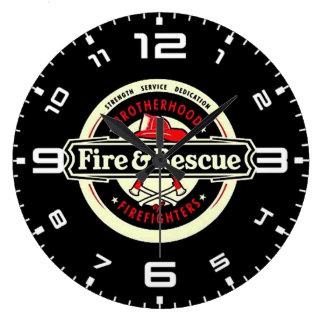 Reloj Redondo Grande Bomberos de la fraternidad