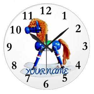 Reloj Redondo Grande Caballo de la afición con nombre