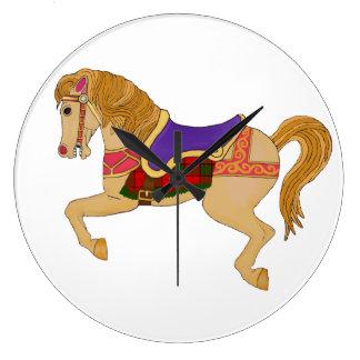 Reloj Redondo Grande caballo del carrusel