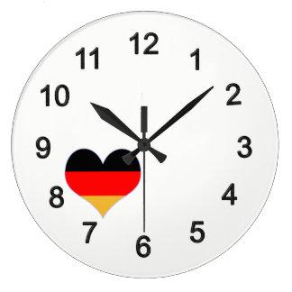 Reloj Redondo Grande Cardíaca colores de alemania