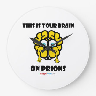 Reloj Redondo Grande Cerebro en priones